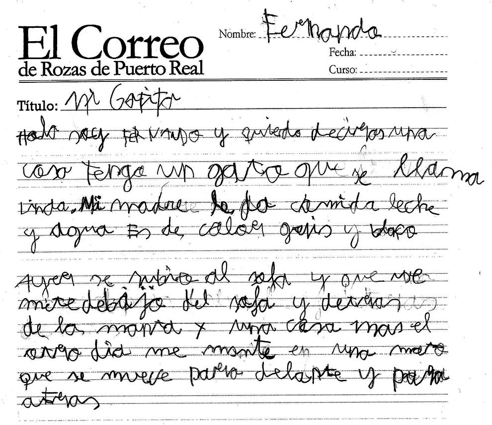 El Correo De Rozas De Puerto Real Mi Gatita