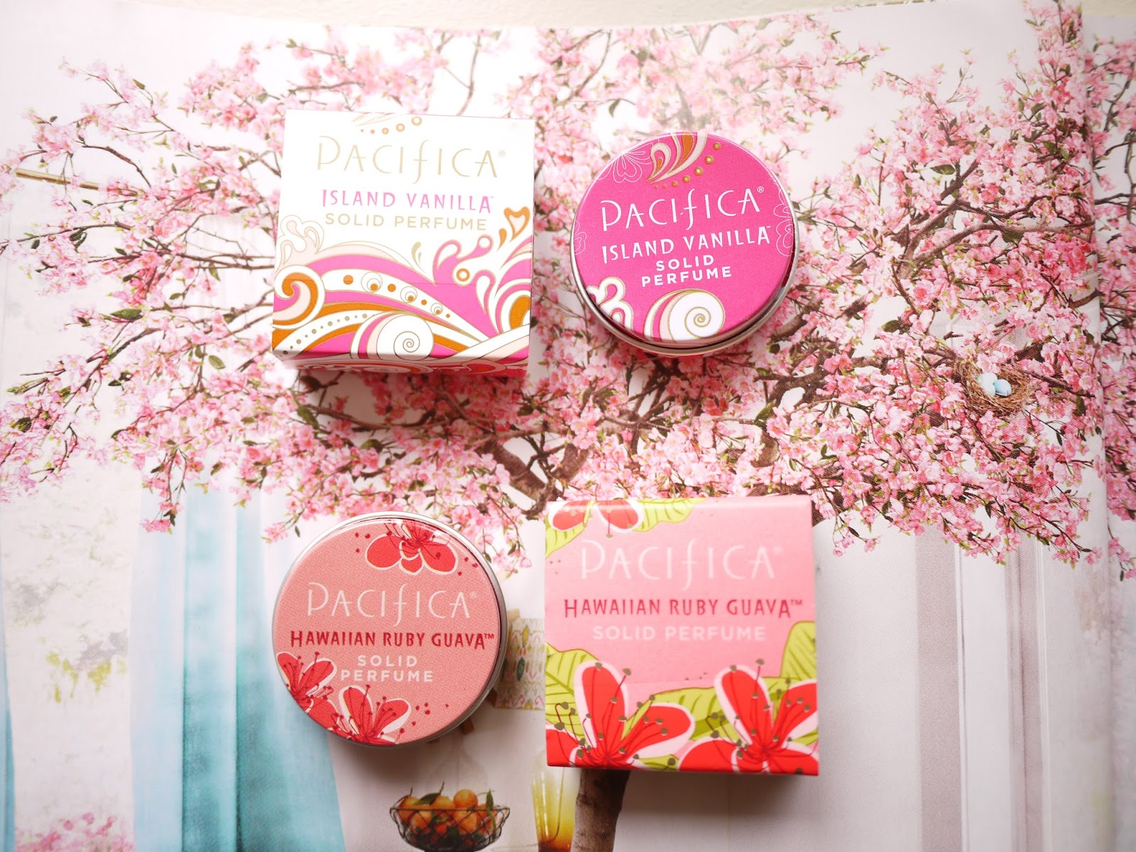 Pacifica Solid Perfumes:Island Vanilla and Hawaiian Ruby Guava