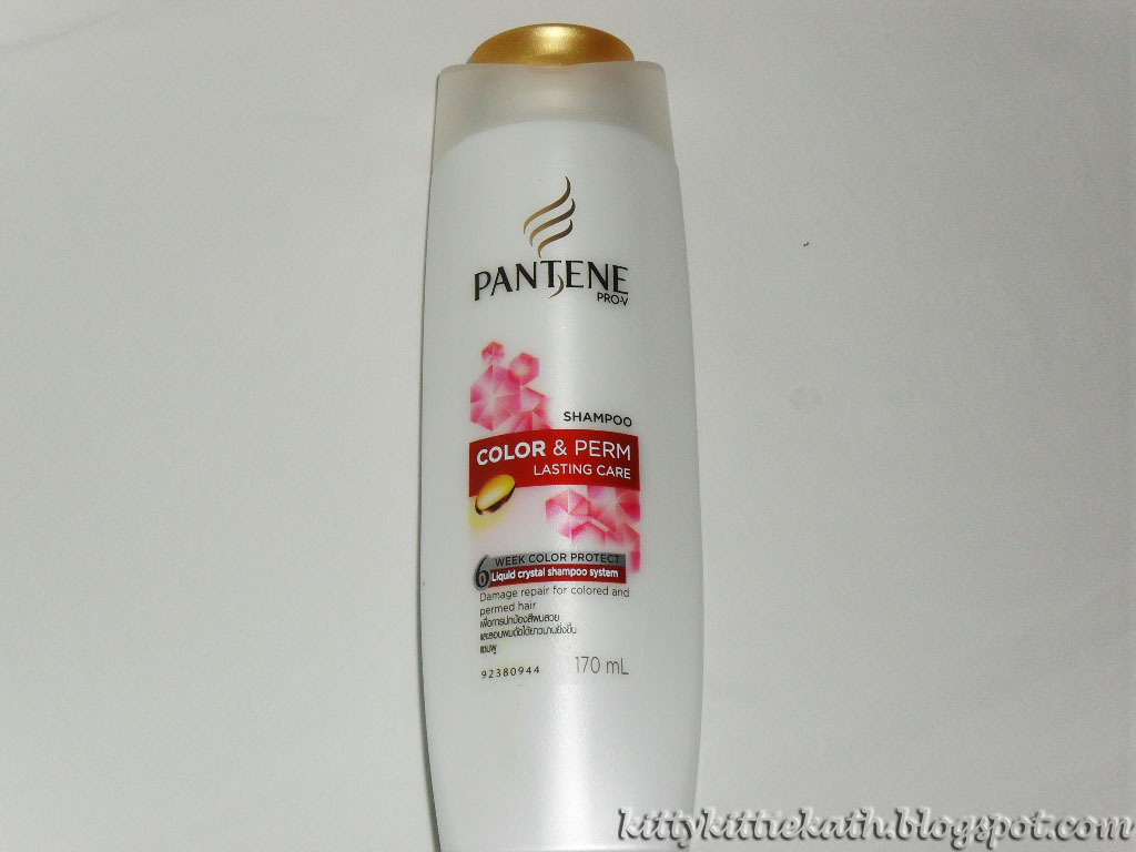 Product Review Pantene Color And Perm Shampoo Dear Kitty Kittie