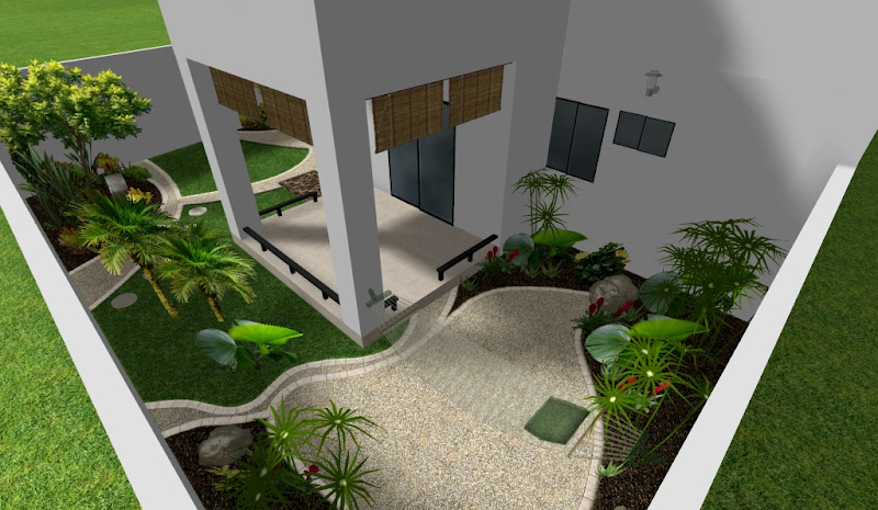 decoracion de jardines en patio con terraza