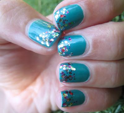 Wet n' Wild - Miami Spirit , Milani - Gems glitter gradient