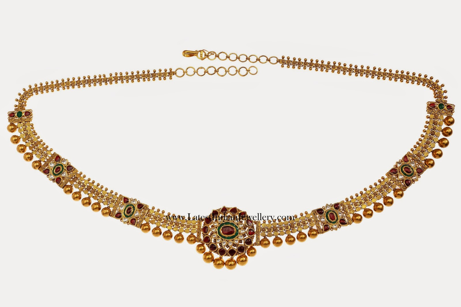 Chain Style Kundan Vaddanam