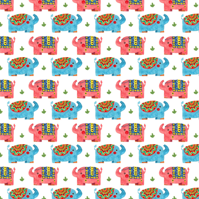 The Elephant Pattern Printed on Merchandise Illustration by Haidi Shabrina