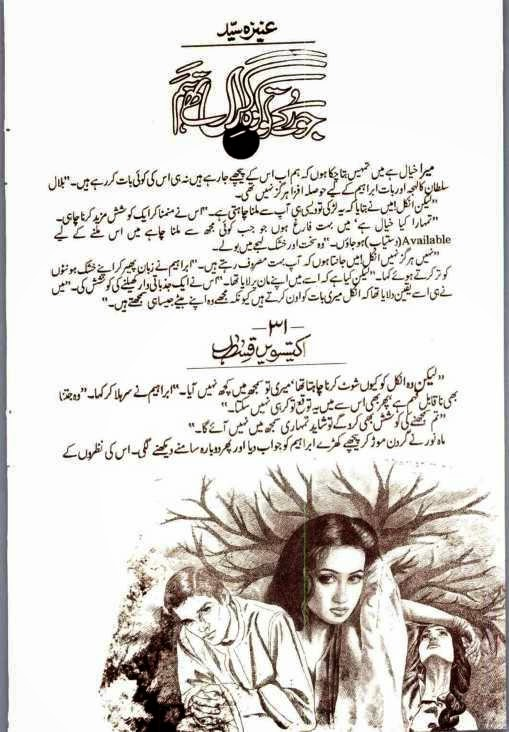 Jo rukey toh koh e giran thy hum Episode 31 by Aneeza Sayed online reading.