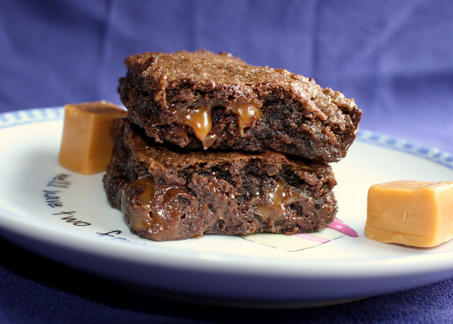 Time for Good Food: Chocolate Salted Caramel Brownie Bars