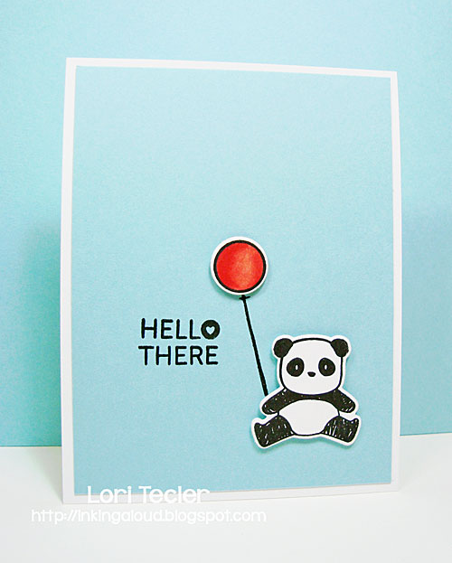Hello There card-designed by Lori Tecler/Inking Aloud-stamps and dies from Mama Elephant