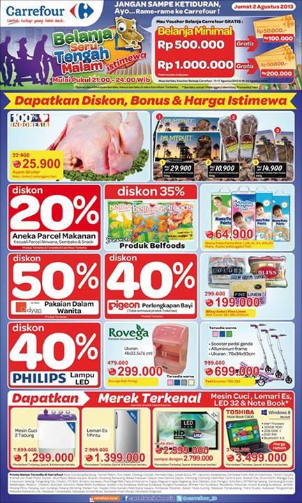 carrefour midnight Carrefour Midnight Sale + Katalog Promo, Jum'at tanggal 2 Agustus 2013
