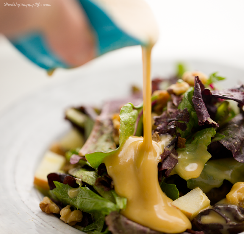 Three Ingredient Vegan Honey Mustard Dressing