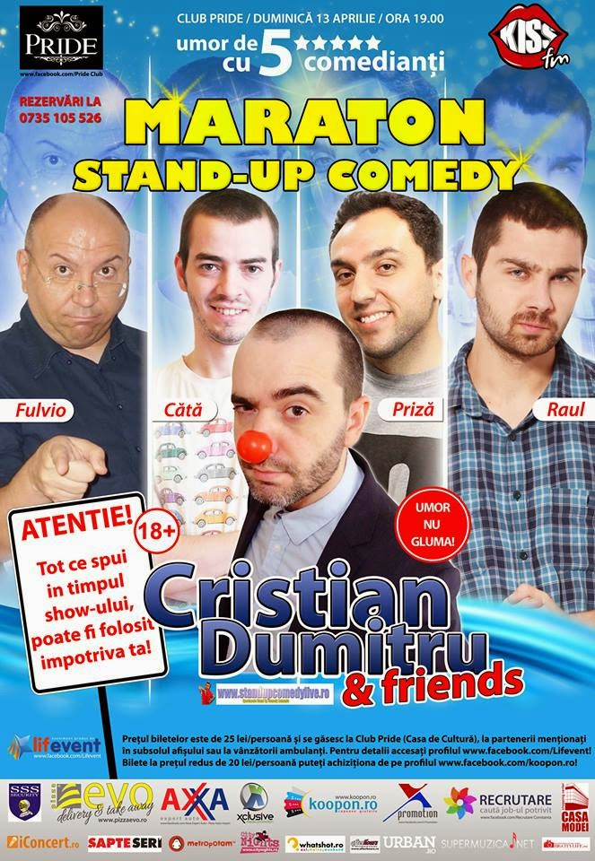 maraton stand-up comedy duminica