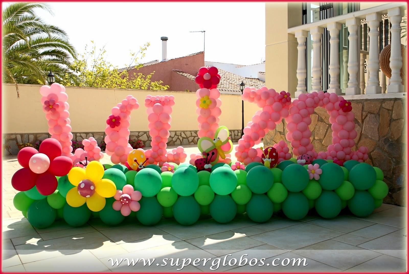 Decoraci n con globos para eventos y fiestas superglobos - Adornos de globos ...