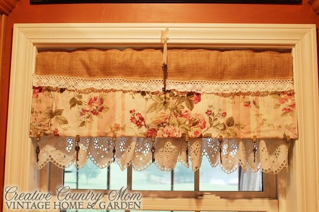 Sewing Burlap And Lace Curtains