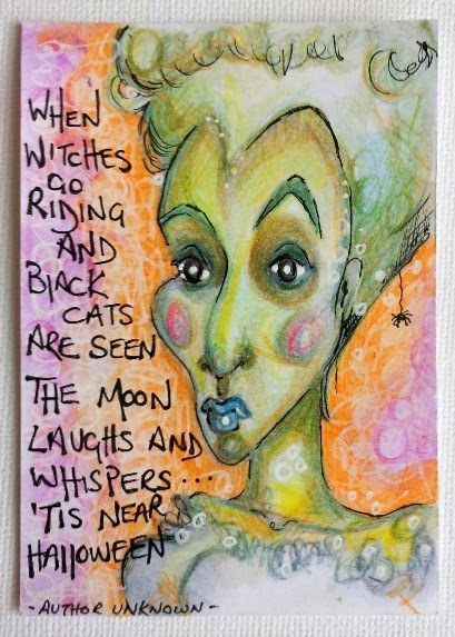 Carmen Wing - Witch ATC/ACEO Mixed Media