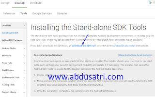 cara mendapatkan file resmi android sdk