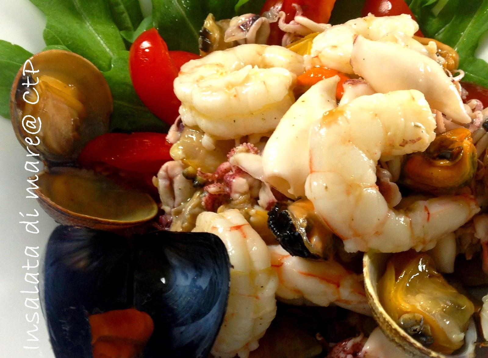 insalata di mare gamberitti cozze e vongole moscardini pomodorini datterini