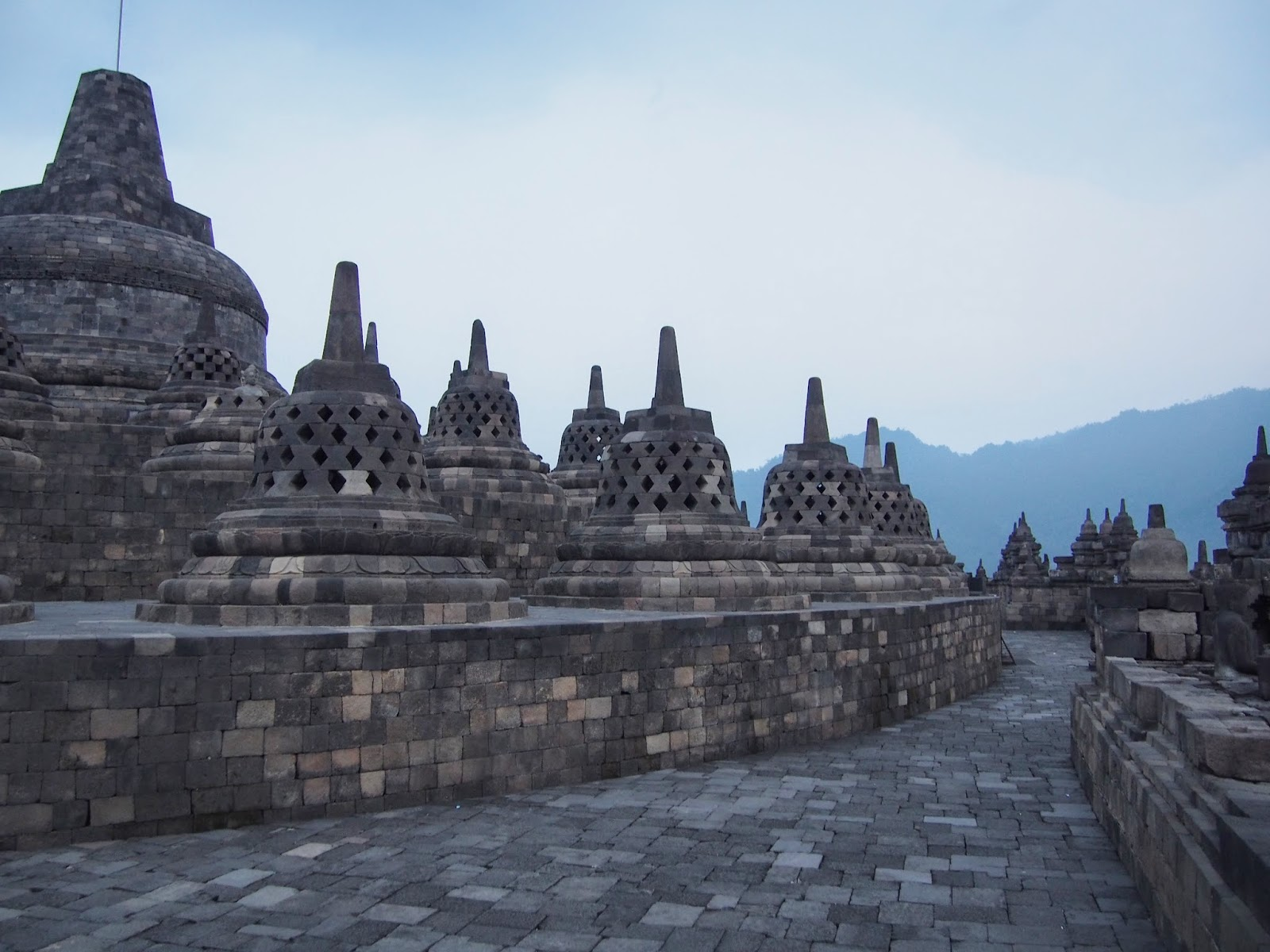 Borobudur on Java, Indonesia