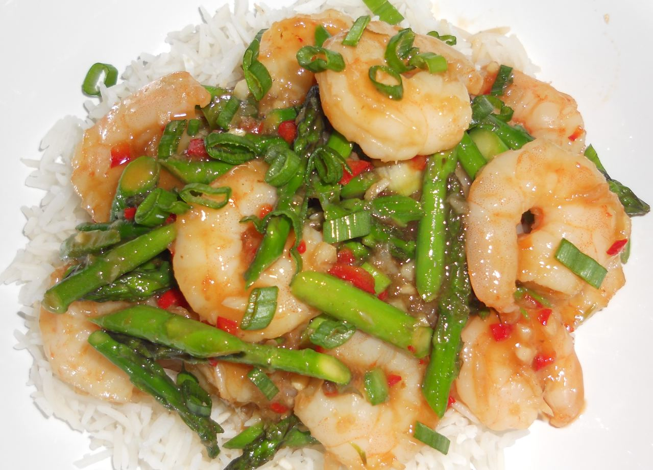 Chili Shrimp And Asparagus Stir Fry Recipes — Dishmaps