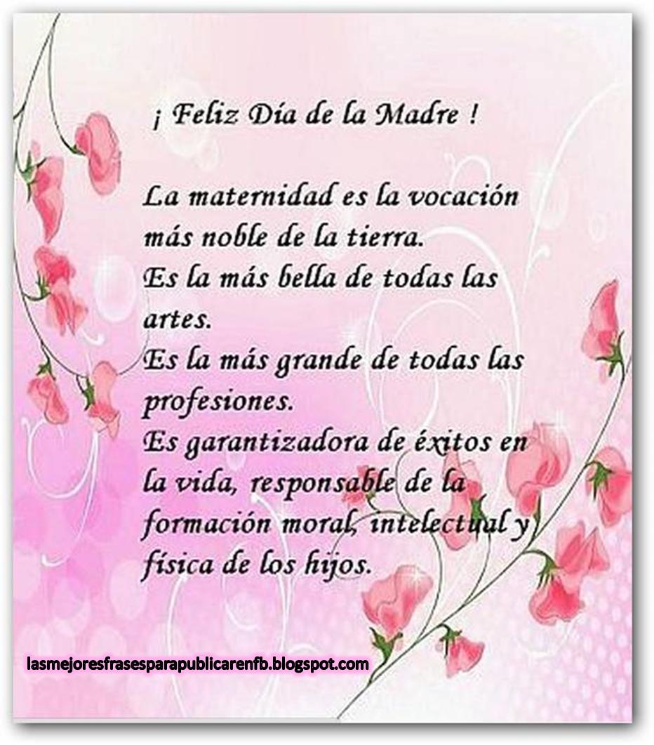 Frases Dia De La Madre: Feliz Día De La Madre La Maternidad Es La Vocación