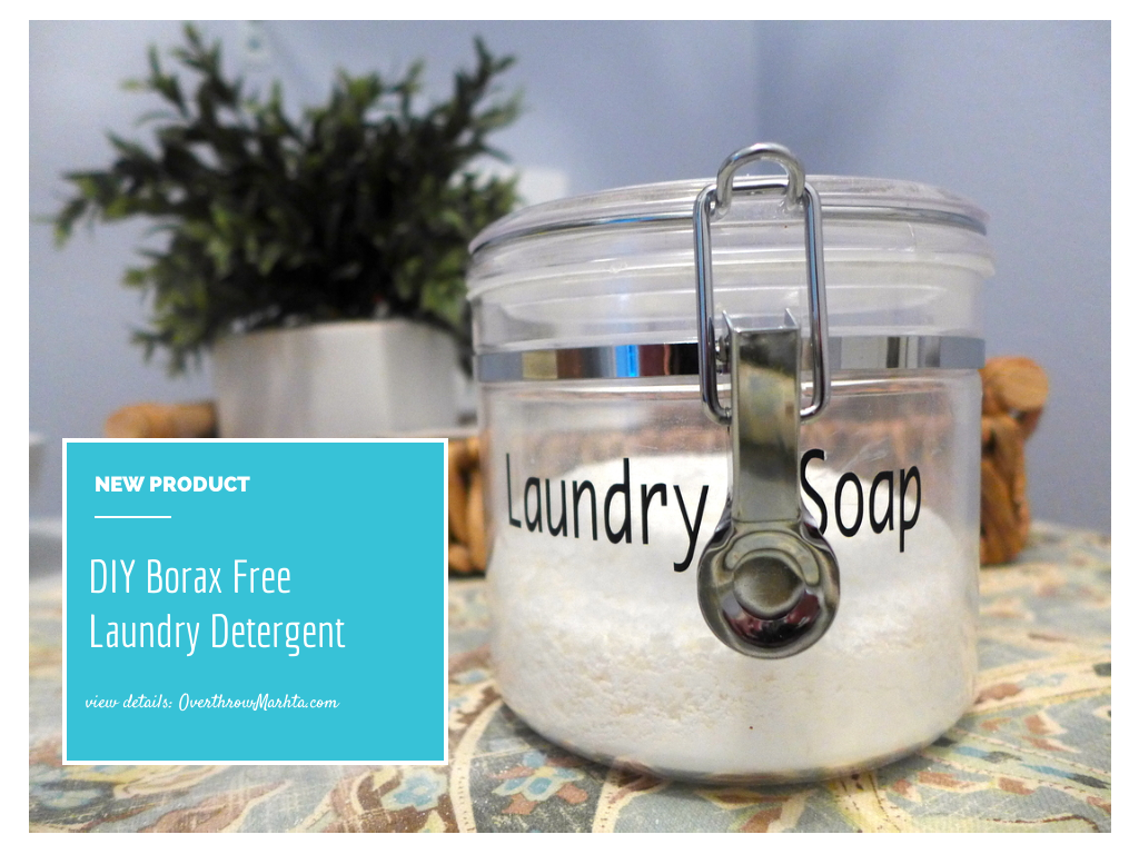 #DIY Borax Free Laundry Detergent #laundry #clean