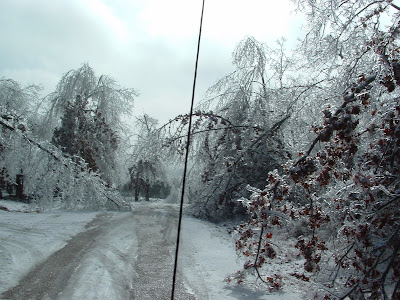 Arkansas ice storm in '09