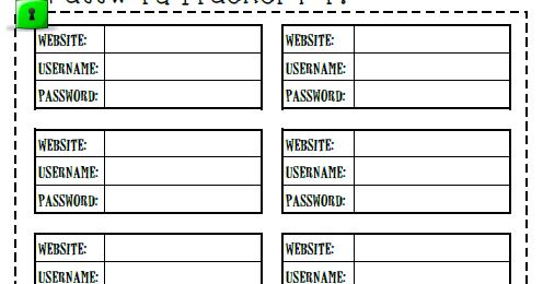 Password Tracker - Organized Confusion