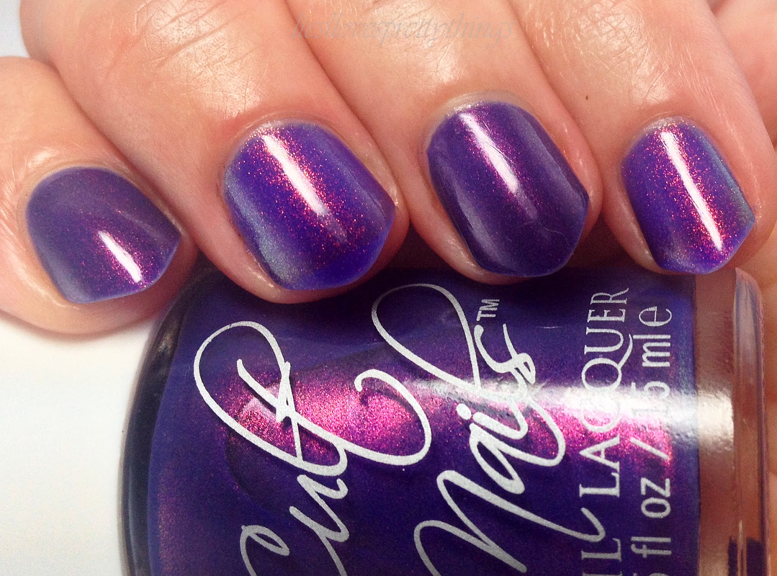 Cult Nails Flushed/Max Factor Fantasy Fire Comparison
