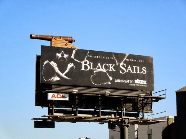 Black Sails cannonball hole billboard