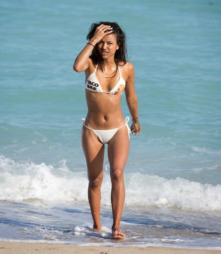 karrueche shows superbody in bikini