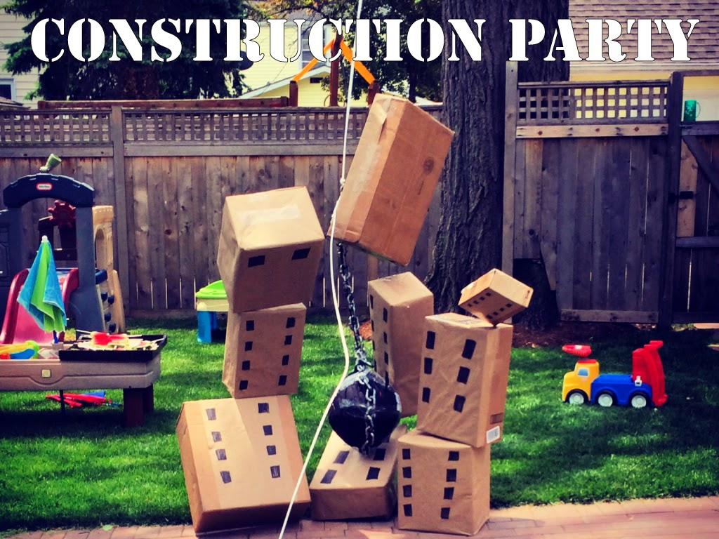 DIY Construction Party | All dressed up with nothing to drink...