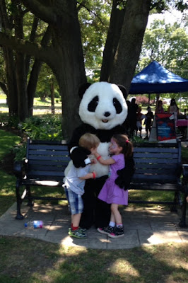 Twins love Panda