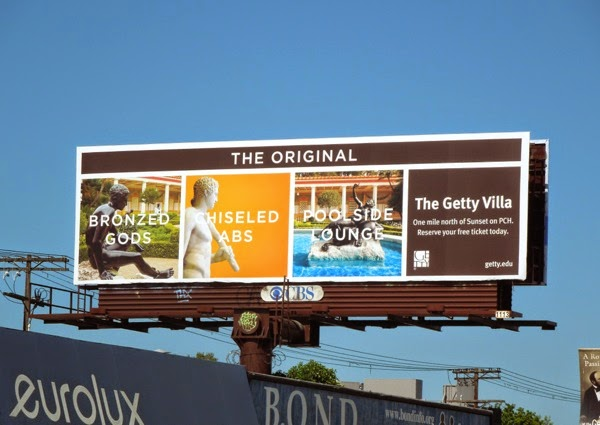 Getty Villa Bronzed gods Chiseled Abs billboard