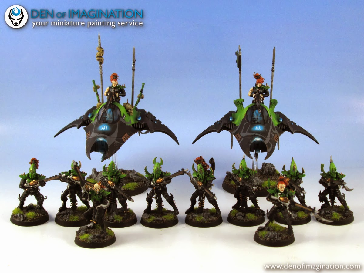 Hi there! Take a look at some cool Dark Eldar models that we recently  finished. 733a97af0d64