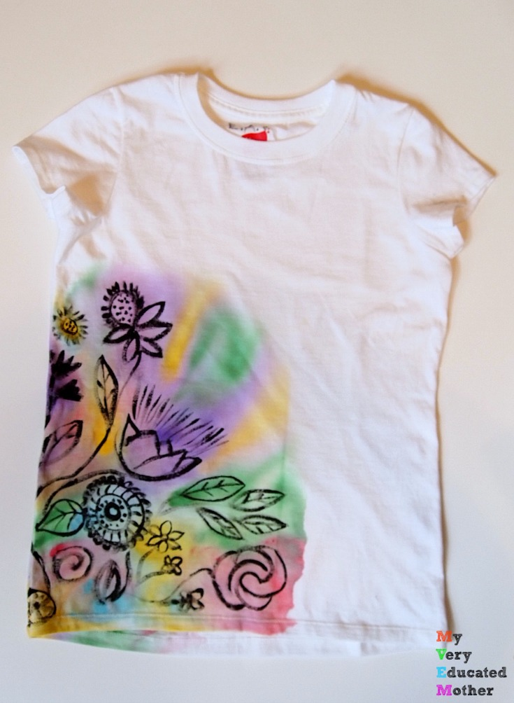 So much cheaper than tie-dye! Use DecoArt's So Soft Paint to create a watercolor effect!