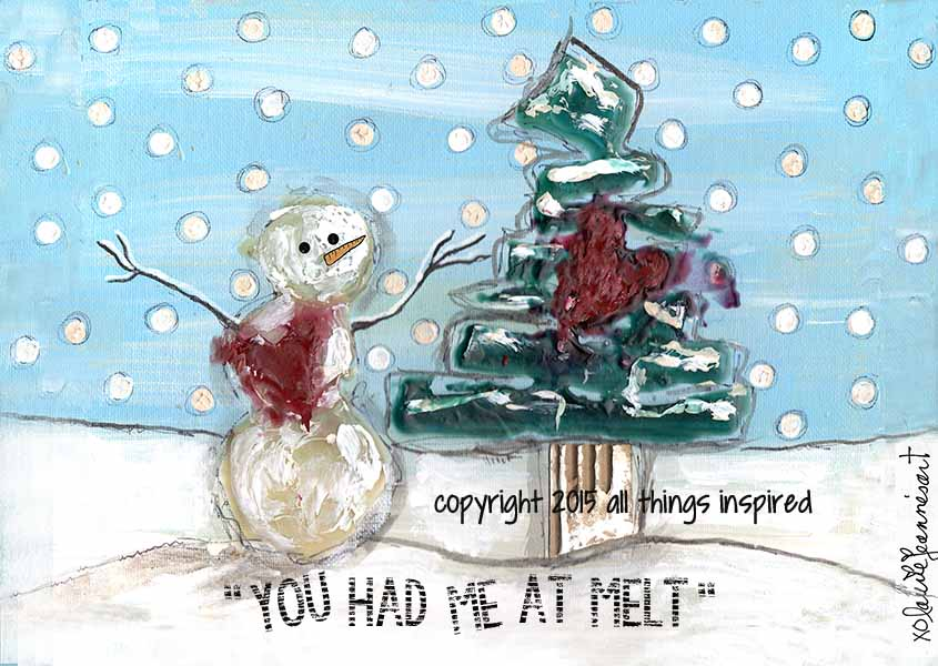 melt - snowman