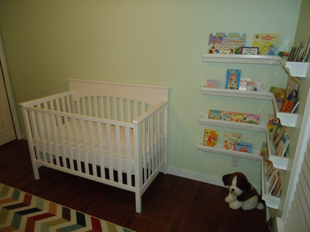 White classic crib for the nursery