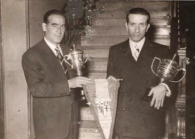 Entrega de premios en el Match Internacional de Ajedrez Interclubs 1951