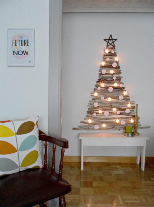 Lalole blog hazlo t mismo rbol de navidad con palos - Fabriquer un sapin de noel original ...