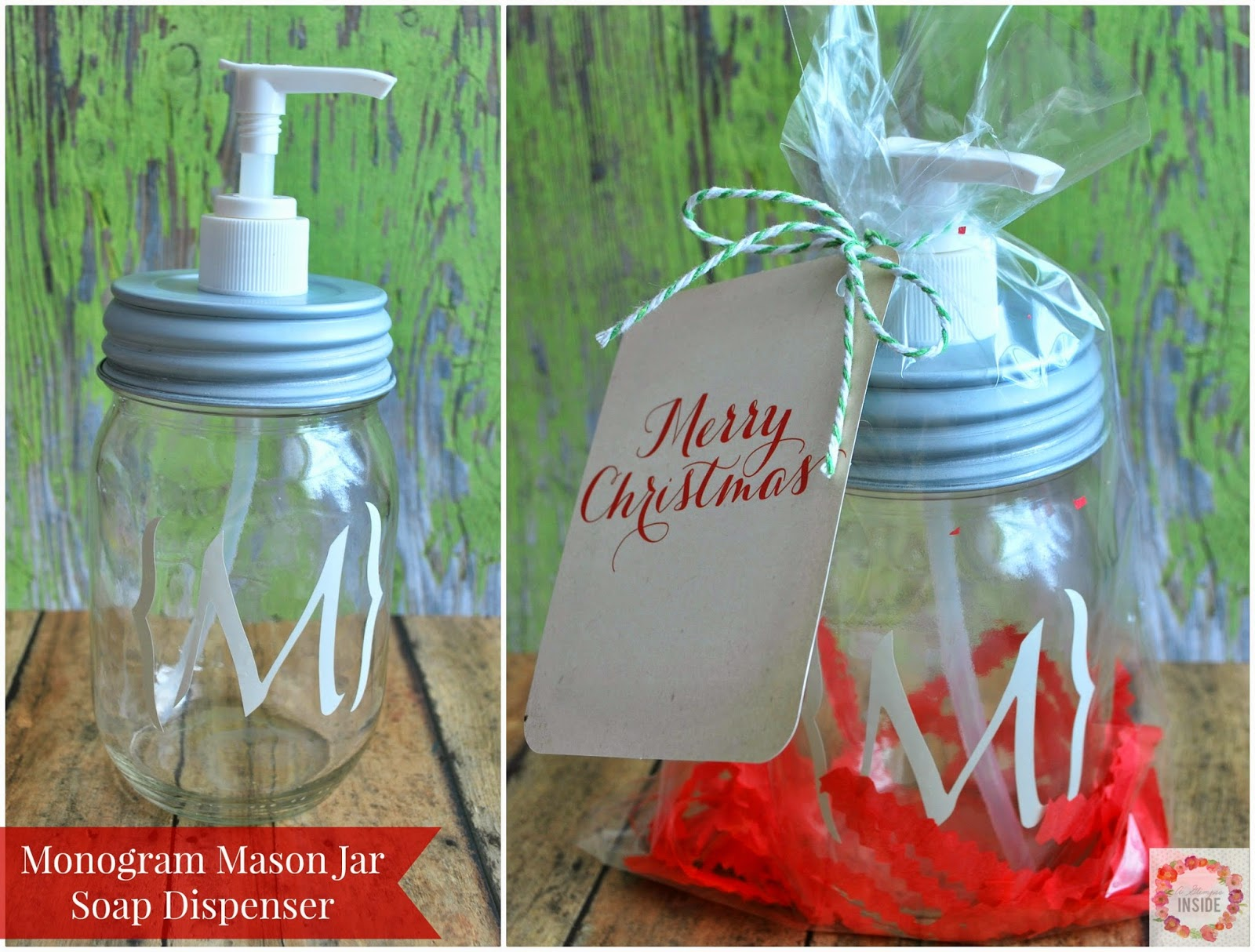 http://www.aglimpseinsideblog.com/2014/12/monogram-mason-jar-soap-dispenser-easy.html