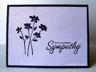 Insomniac Stamper's Simple Sympathy in Purple