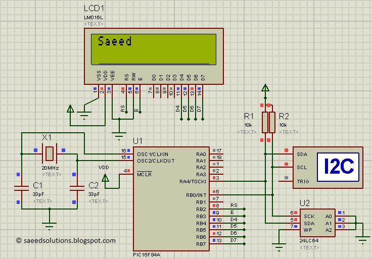interfacing of pic16f84a with i2c based 24lc64 eeprom code rh saeedsolutions blogspot com