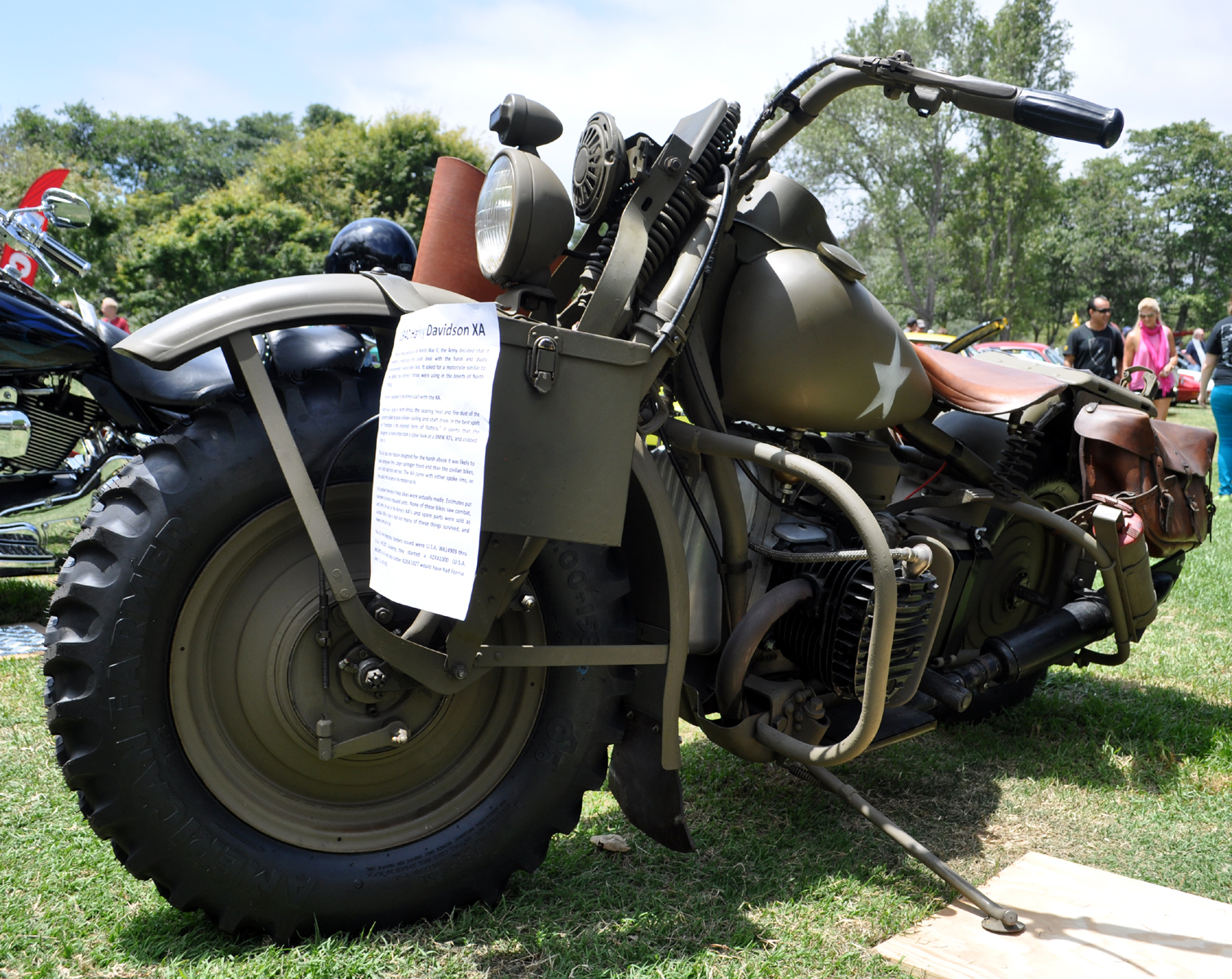 Classic Cars Authority 1942 Harley Davidson Xa Military Grade Hog Not A V Twin