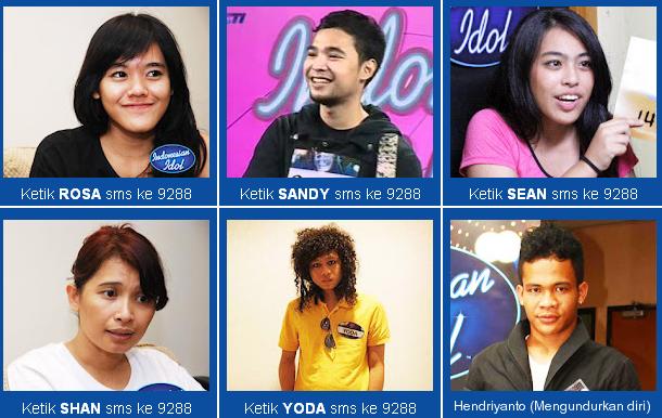 Daftar 15 Besar Kontestan Indonesian Idol 2012