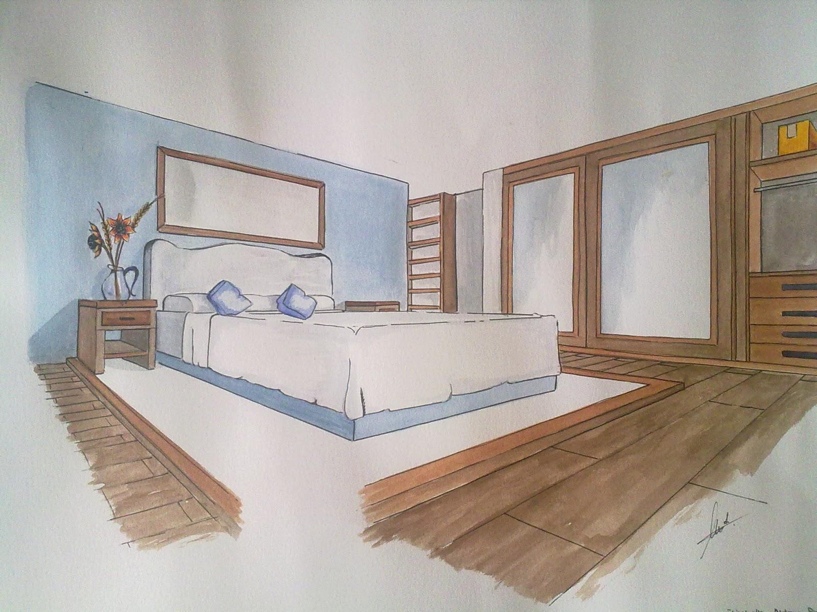 Silvia barzola arte perspectiva - Habitacion en perspectiva conica ...