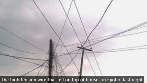 high tension wire ejigbo lagos