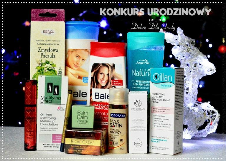 Konkurs urodzinowy - wygraj zestaw kosmetyków