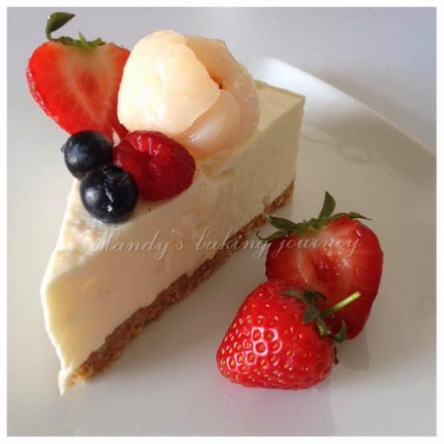 Mandy's baking journey: Lychee Cheesecake (non bake)