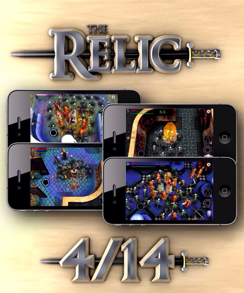 the relic is a 3d gauntlet or diablo style arcade rpg developed by axolotl studios aka me and published by chillingo it runs on iphone and ipad
