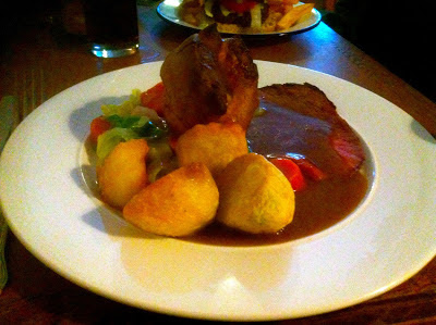 Sunday Roast with crispy potatoes at The Lansdowne Cardiff