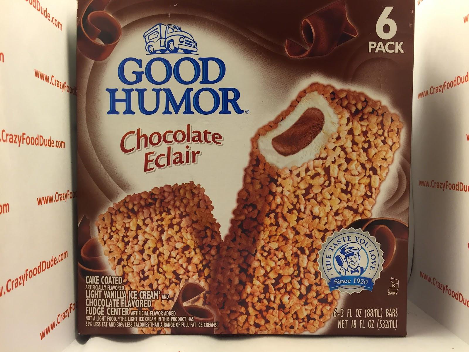 Crazy Food Dude: Review: Good Humor Chocolate Eclair Ice Cream Bars