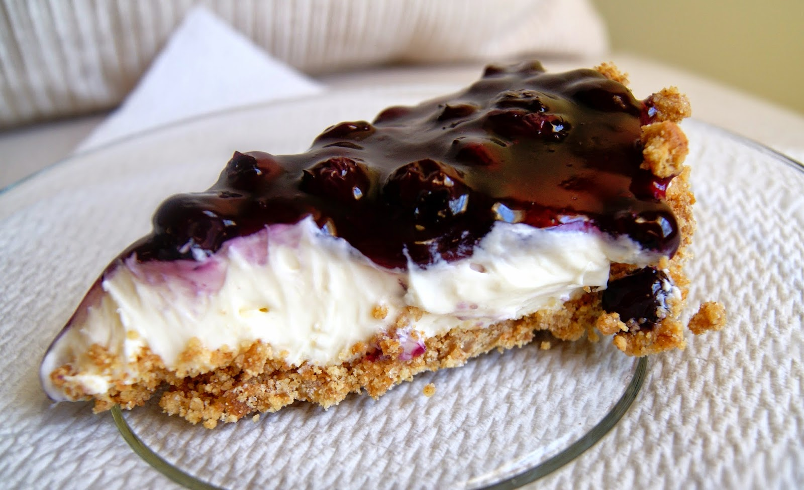 Blueberry Cream Cheese Pie with Graham Cracker Crust ~ Kari Michale