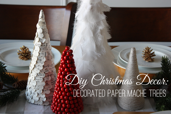 A Simple Kind of Life: DIY Christmas Decor: Decorated Paper Mache Tree